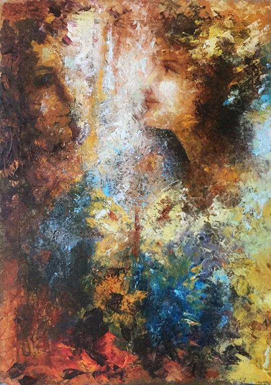 Pintura al oleo, arte, figurativo, pintora Yolanda Pinto, cursos oleo, bogota