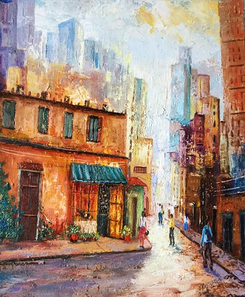 arte impresionista, oleo, arte, pintora Yolanda Pinto, cursos oleo, Bogota