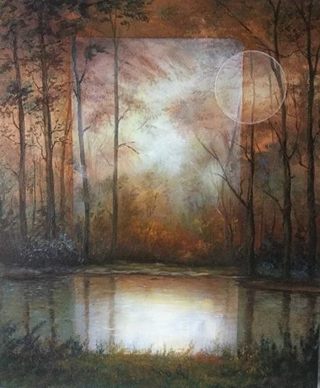 Bosque impresionista, arte impresionista, oleo, arte, pintora Yolanda Pinto